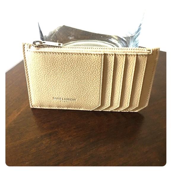 saint laurent fragment zip card holder - Zip Card Holder